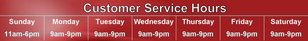 Customer Service Hours Red